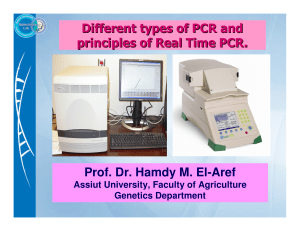 Prof. Dr. Hamdy M. El-Aref Different types of PCR