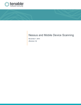 Nessus and Mobile Device Scanning