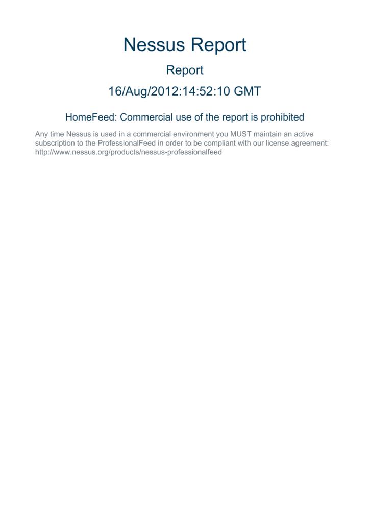 Nessus Report Hackertarget