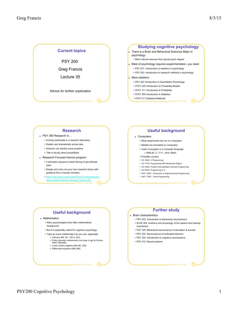 behavioral neuroscience topics