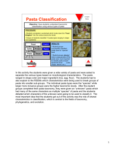Pasta Classification