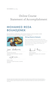 Online Course Statement of Accomplishment MOHAMED REDA