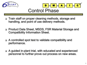 Template for Ford Six Sigma Projects
