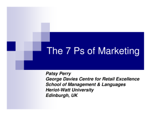 The 7 Ps of Marketing