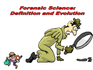 History of Forensic Science Presentation