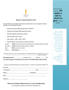 Donation Form - Beacon House, Inc.