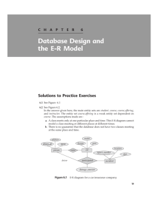 Database Design and the E