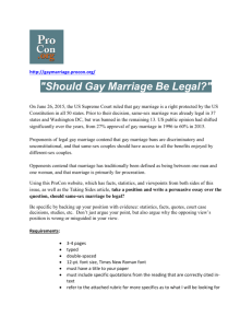 Should Gay Marriage Be Legal?