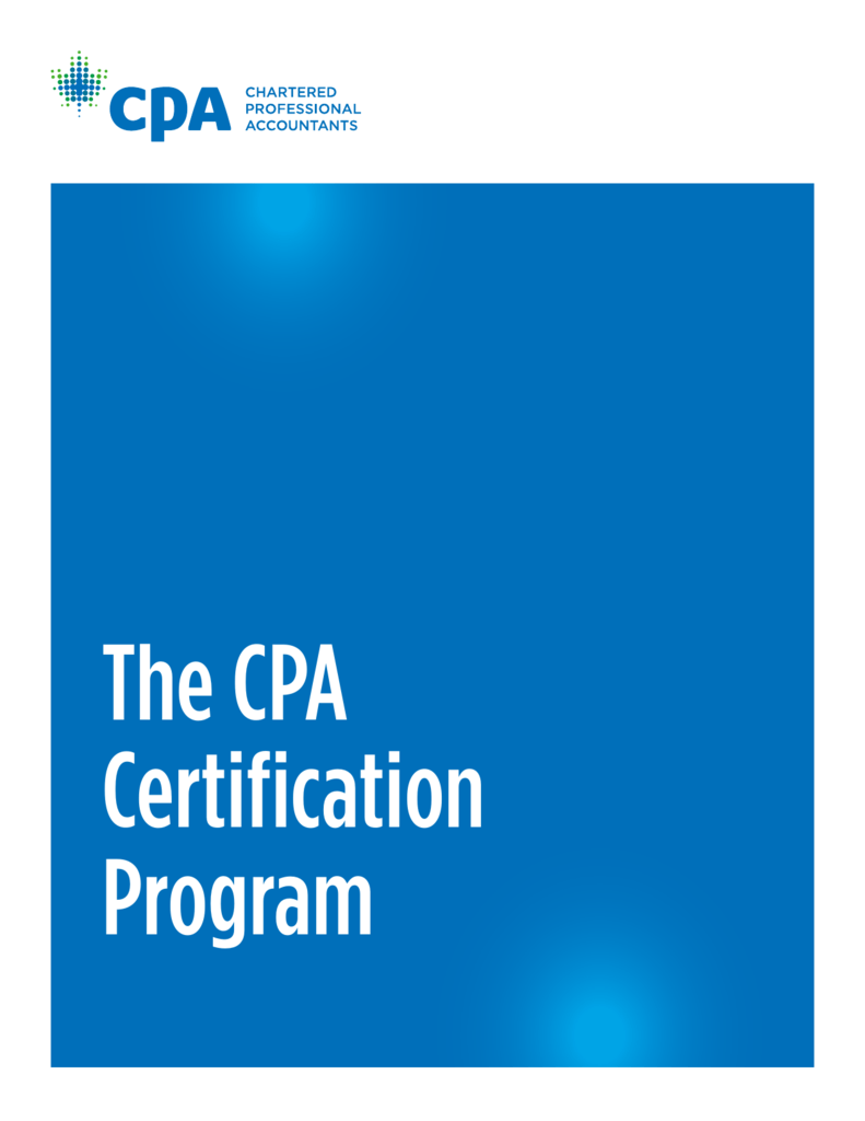 The Cpa Certification Program