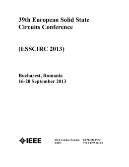 ESSCIRC 2013 Table of Contents