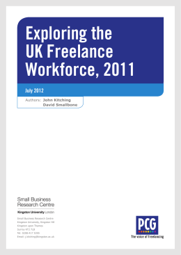 Exploring the UK Freelance Workforce, 2011