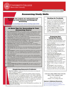 Accounting Study Skills - University College