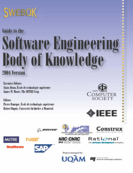 Guide to the Software Engineering Body of Knowledge (2004 Version)