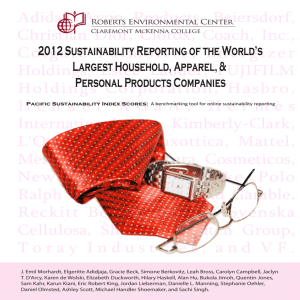 2012 Sustainability Reporting of the World's Largest Household