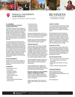 business - Indiana University Northwest