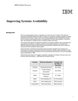 Improving Systems Availability