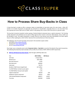 How to Process Share Buy-Backs in Class