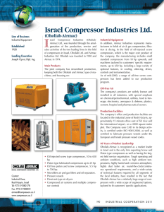 Israel Compressor Industries Ltd. (Oholiab