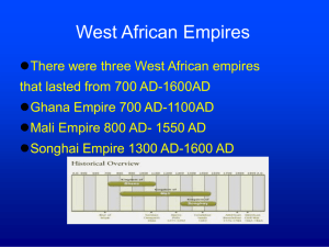 West African Empires - World History & Geography