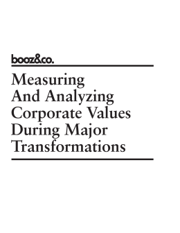 Measuring and Analyzing Corporate Values During Major