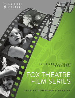 fox theatre film series
