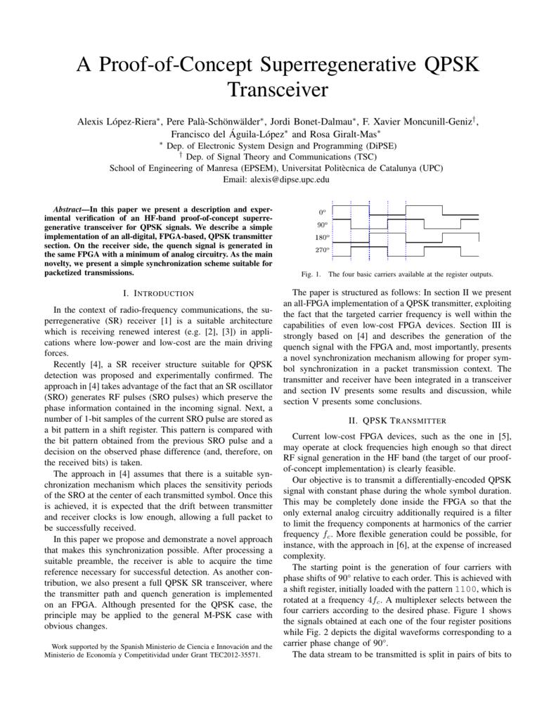 A Proof-of-Concept Superregenerative QPSK