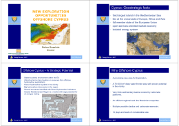 NEW EXPLORATION OPPORTUNITIES OFFSHORE CYPRUS