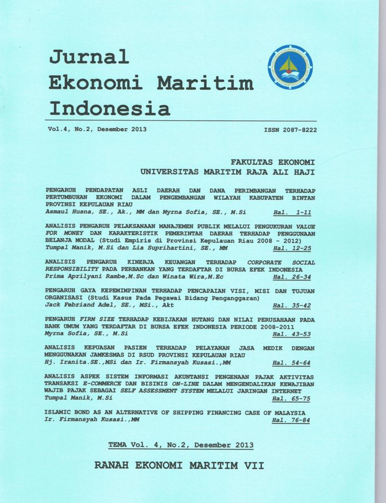 Jurnal Ekonomi Maritim Indonesia
