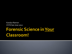 Forensic Science in Your Classroom!