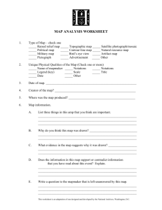MAP ANALYSIS WORKSHEET