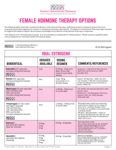FEMALE HORMONE THERAPY OPTIONS