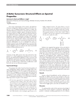 A Better Sunscreen: Structural Effects on Spectral Properties