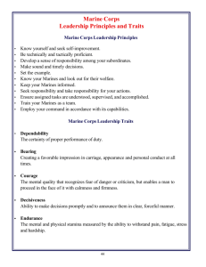 Marine Corps Leadership Principles and Traits