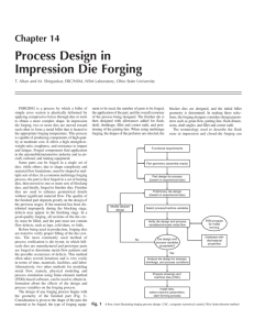 Process Design in Impression Die Forging