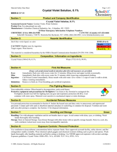 Material Safety Data Sheet - Anoka Ramsey Community College