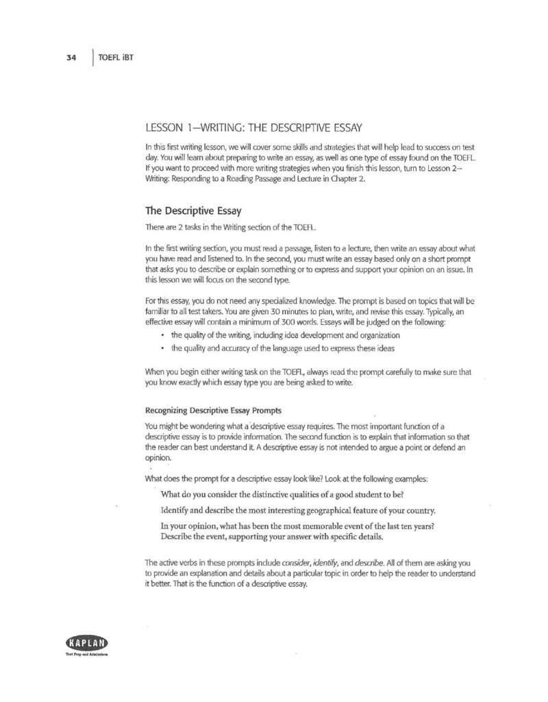 Descriptive essay writing skills