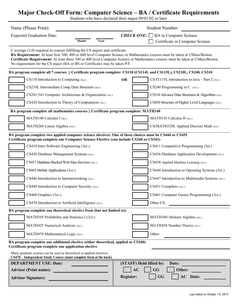 Ba in cs advising form umass boston computer science 1betcityfo Images