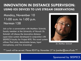 innovation in distance supervision: using ios devices to live stream