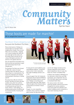 issue 31 - Winter 2009 - communitymatters.govt.nz