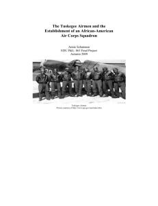 The Tuskegee Airmen and the Establishment of