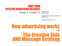 How advertising works + The Creative Side AND Message Strategy