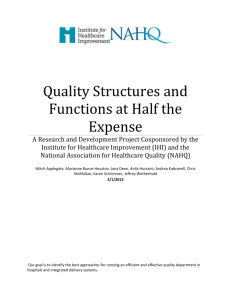 Quality Structures and Functions at Half the Expense