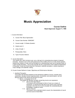 Music Appreciation - Amazon Web Services