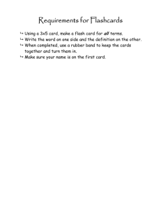 Make Vocabulary Flash Cards