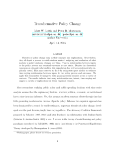 Transformative Policy Change - The Comparative Agendas Project