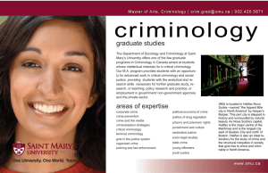 Masters in Criminology Program