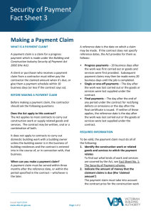 3. Making a payment claim
