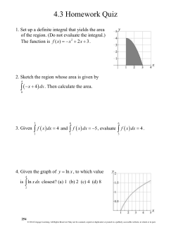 Calc 4.3 Homework Quiz