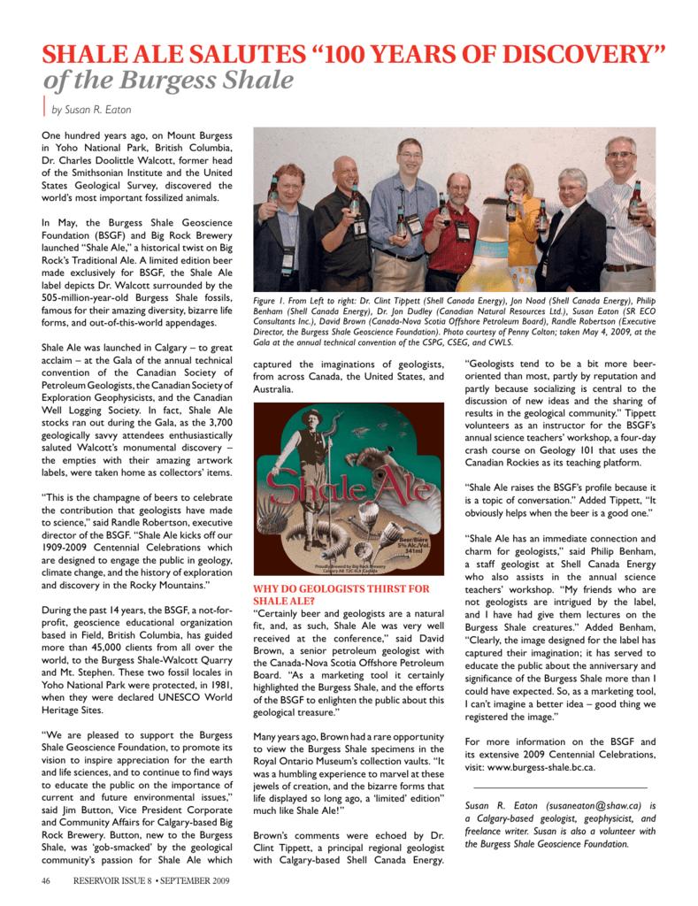 b93c52fea9 beer - Burgess Shale Geoscience Foundation