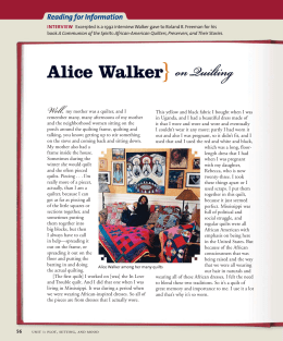 Alice Walker} on Quilting